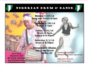 Nigerian Drum and Dance Tucson AZ Jan 2014