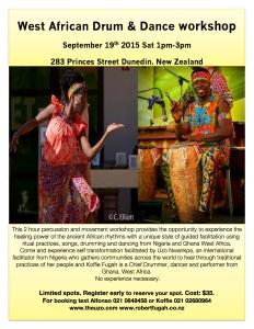 Drum and Dance Workshop Dunedin