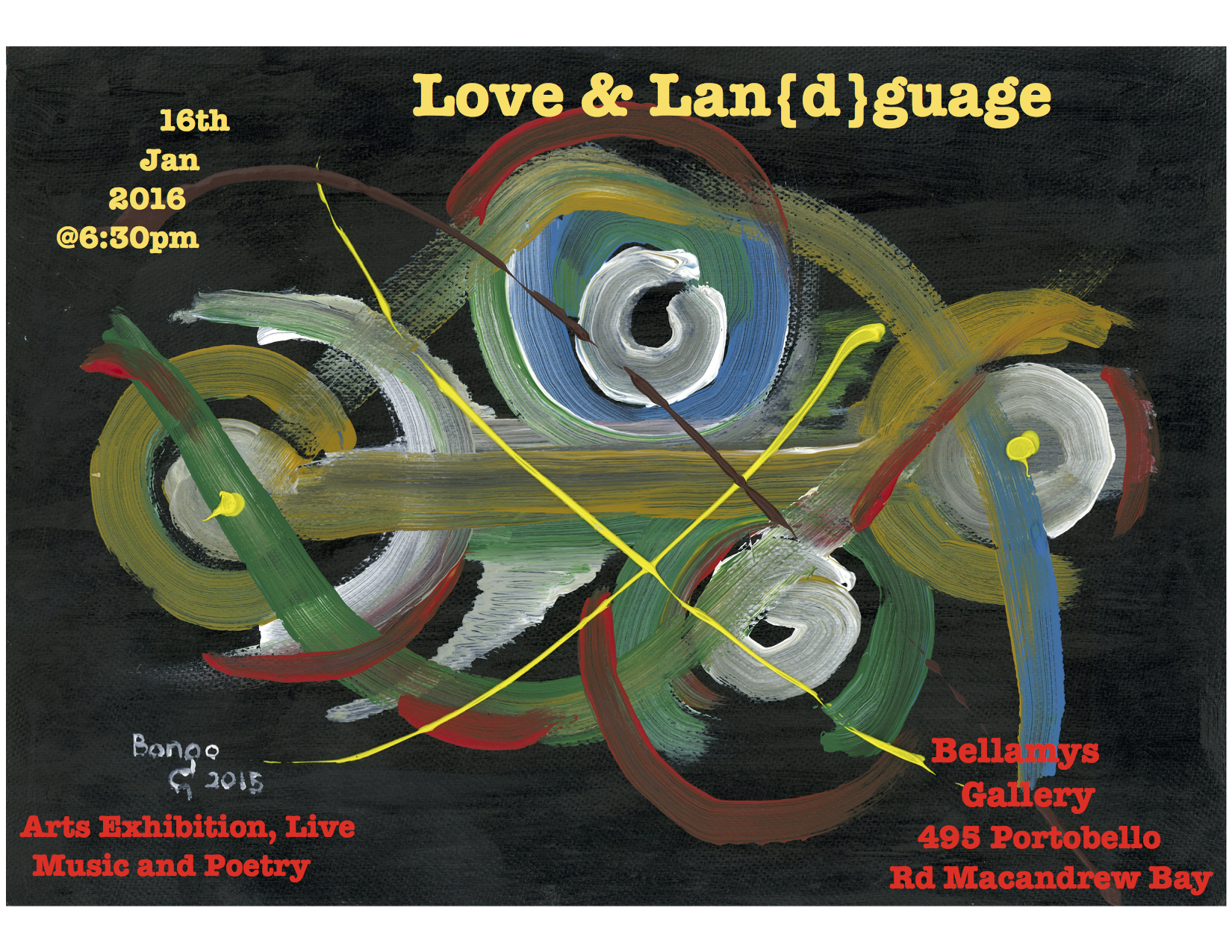 Love and Lan{d}guage Event Flier
