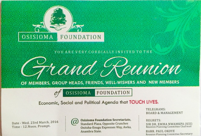 Osisioma Foundation Reunion